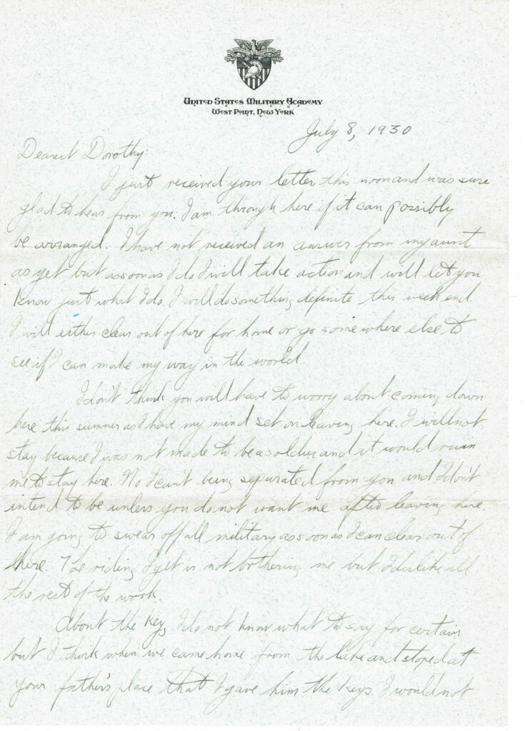 Letter from John L. Schaefer to Dorothy Wilson